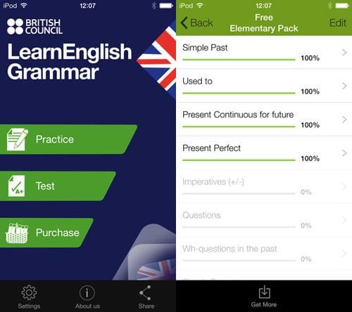 اپلیکیشن آموزش گرامر زبان انگلیسی Learn English grammer