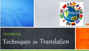 7 تکنیک ترجمه