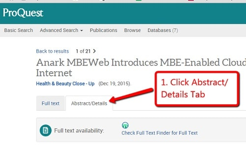 بانک پایان نامه ProQuest